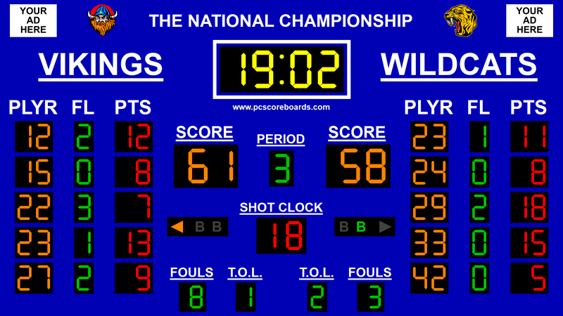 Basketball Scoreboard Premier v3 3.0.6 Screen shot