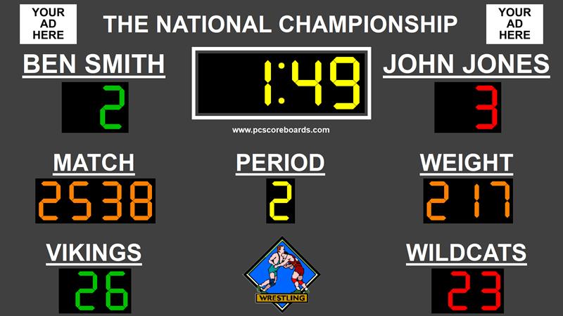 Wrestling Scoreboard Standard full screenshot